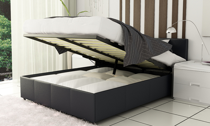 Ottoman bed frame with storage groupon goods for Beds groupon