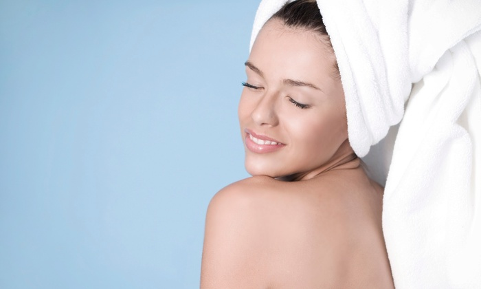 Marti at Headlines and Co - Santa Barbara: Organic or Sun-Damage Facial and 15-Minute Massage from Marti at Headlines and Co (50% Off)