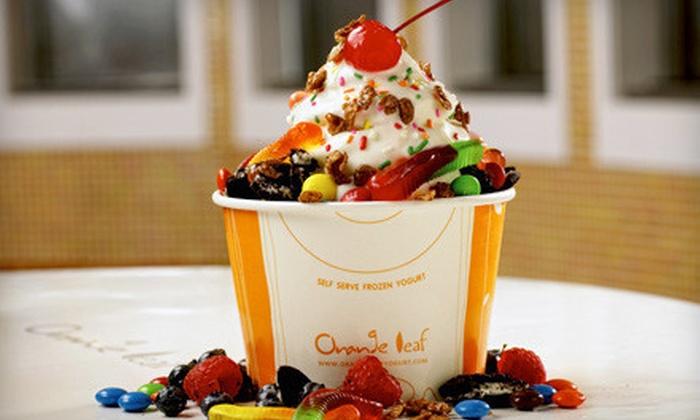 Orange Leaf Frozen Yogurt - Central City: $3 for $6 Worth of Self-Serve Frozen Yogurt at Orange Leaf Frozen Yogurt