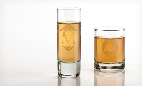 19 99 for four custom engraved shot glasses from personal wine