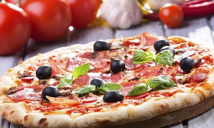 Menu pizza con antipasto, dolce e litro di birra (sconto fino a 64%)