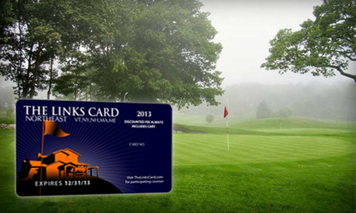 Links Card - Boston: One or Two Golf Membership Cards with Discounts to 130 Courses for 2013 Season from Links Card (Up to 58% Off)