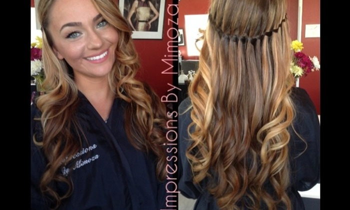 Impressions By Mimoza - New Dorp: Haircut, Partial Highlights, and Style from Impressions by Mimoza (56% Off)