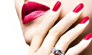 Angel Day Spa and Salon: Set of Solar Nails with Optional Spa Pedicure (Up to 45% Off)