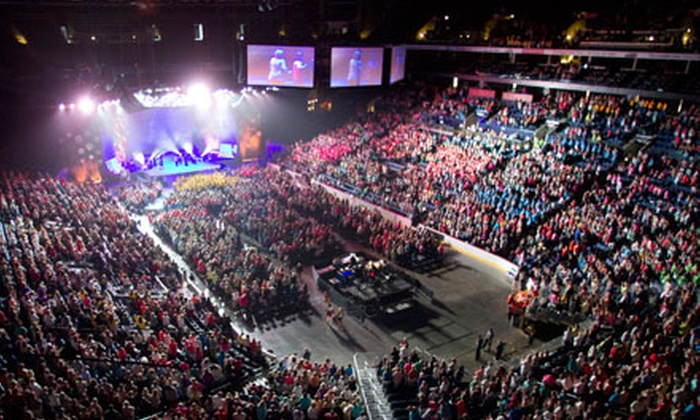 "Women of Faith Believe God Can Do Anything Tour - Downtown Des Moines: Women of Faith ""Believe God Can Do Anything"" Tour at Wells Fargo Arena on August 23 and 24 (Up to 43% Off)"