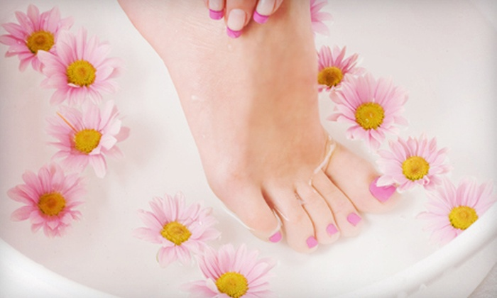 K and S Studios - Chester: Spa Pedicure or Haircare Package with Conditioning, Style, and Brow Wax at K and S Studios in Chester (Up to 52% Off)