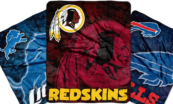"""NFL Raschel 50""""x60"""" Throws: $19.99 for an NFL Raschel 50""""x60"""" Throw ($39.99 List Price). Multiple Teams Available. Free Shipping and Returns."""