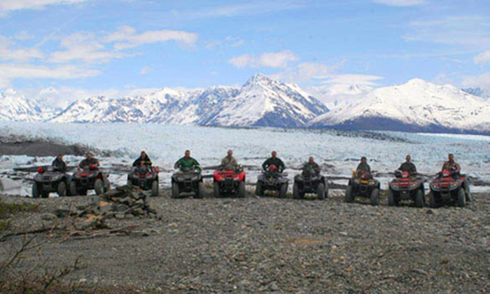 Alaska Backcountry Adventure Tours - Butte: Glacier Tour or Full-Day ATV or Snowmobile Tour for One or Two from Alaska Backcountry Adventure Tours (Up to 55% Off)