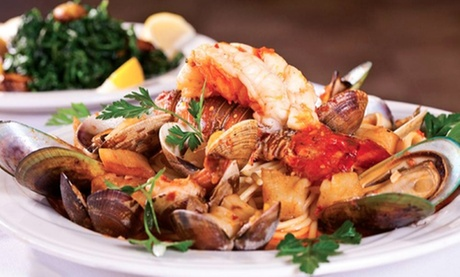 Italian Food and Drinks for Two or More at Pasta Mia West (Up to 40% Off). Two Options Available.