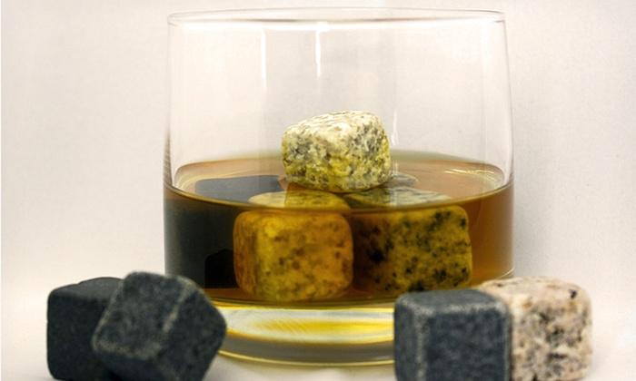 Set of Nine Multicolor Whiskey Stones: Set of Nine Multicolor Whiskey Stones