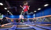 Sky Zone - Sky Zone - Maumelle, AR: Hour of Open-Jump Time for Two or Four with Socks, a or Birthday Party for 10 Kids at Sky Zone (Up to 49% Off)