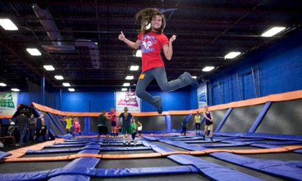 Hour of Open-Jump Time for Two or Four with Socks, a or Birthday Party for 10 Kids at Sky Zone (Up to 49% Off)