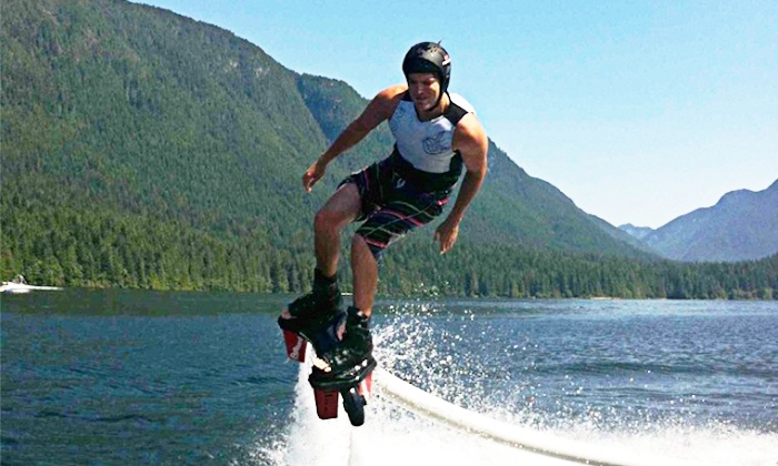 Island Flyboard - Victoria: One or Two 30-Minute Intro to Flyboarding Lessons from Island Flyboard (Up to C$300 Value)