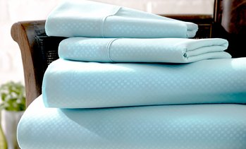 Merit Linens Embossed Microfiber Sheet Sets. Three Styles Available.