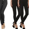 Women's 5-Pocket Slimming Jeggings with Leggings (3-Pack)