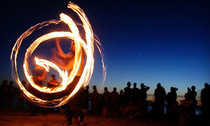 Combustible Materials - Roosevelt: Fire-Dancing Class for 1 or 2 or Fire-Dancing Event for Up to 12 from Combustible Materials (Up to 54% Off)