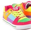 Gotta Flurt Break Down Women's Neon Sneakers
