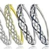 1/4-CTTW Diamond Weave Bangle Bracelets