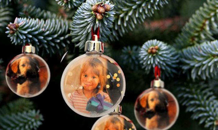 Palline Di Natale Con Le Foto.Palle Di Natale Personalizzabili Con Foto Da 4 99 Sconto Fino A 62
