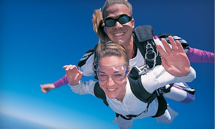 Blue Ridge Skydiving Adventures - New Market: $260 for Tandem Skydiving for Two with T-shirts at Blue Ridge Skydiving Adventures ($460 Value)