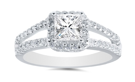 1.00 CTTW Princess-Cut Diamond Ring in 14K White Gold by Bliss Diamond