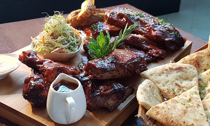 Lowlander Bar & Grill - Pakuranga: All-You-Can-Eat BBQ Feast for One ($29), Two ($56) or Four ($99) at Lowlander Bar & Grill (Up to $236 Value)
