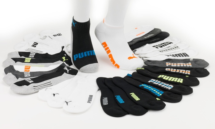 9-Pack of Puma Men's Low-Cut or No-Show Socks: 9-Pack of Puma Men's Low-Cut or No-Show Socks. Free Shipping.