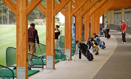 $31.50 for Golf Package with 10 Buckets of Range Balls and a Drop-In Group Lesson at Highland Pacific Golf ($63 Value)