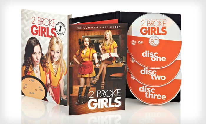 """2 Broke Girls"" Season-One DVD Set: $14 for ""2 Broke Girls"" Season-One Three-Disc DVD Set ($44.98 List Price). Free Returns."