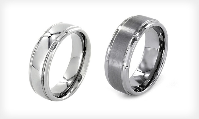 Men's Tungsten-Carbide Rings: $19.99 for a Men's Tungsten-Carbide Ring (Up to $46.46 List Price). Multiple Styles Available.