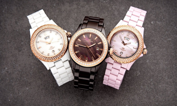 Oniss Unisex and Women's Ceramic Watches: Oniss Unisex and Women's Ceramic Watches (Up to 85% Off). Nine Options Available. Free Shipping and Free Returns.