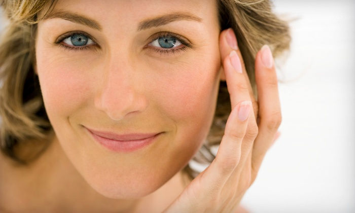 Lifestyle Lift - Uptown: High-Tech Skin-Tightening or Skin-Brightening Package with Microdermabrasion at Lifestyle Lift (75% Off)