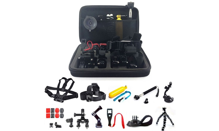 GoPro Hero Mount Accessory Kit for 1/2/3/3+/4/5 Camera (26-Piece): GoPro Hero Mount Accessory Kit for 1/2/3/3+/4/5 Camera (26-Piece)