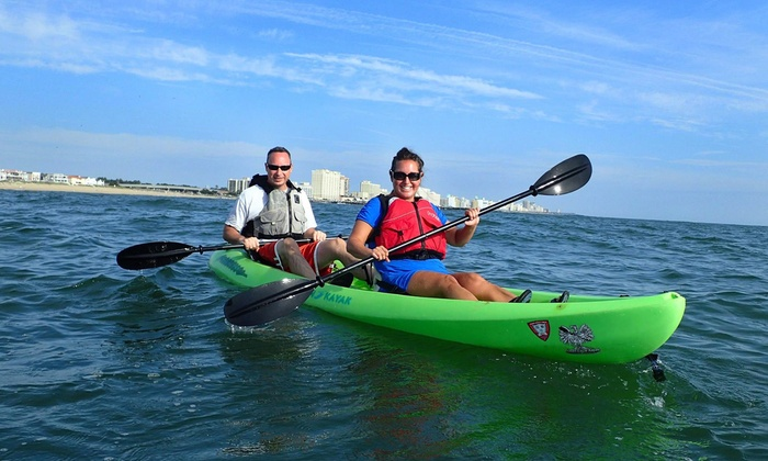 Ocean Eagle Kayak Adventures - Northeast Virginia Beach: 2.5-Hour Dolphin and Nature Encounter on Tandem Kayak for Two from Ocean Eagle Kayak Adventures (Up to 46% Off)