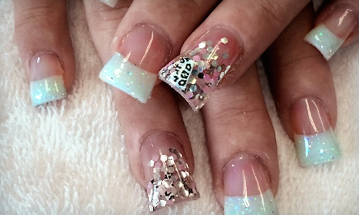 Glitter Nails by Erika - Arden - Arcade: One Set of Acrylic Nails or One or Three Mani-Pedis at Glitter Nails by Erika (Half Off)