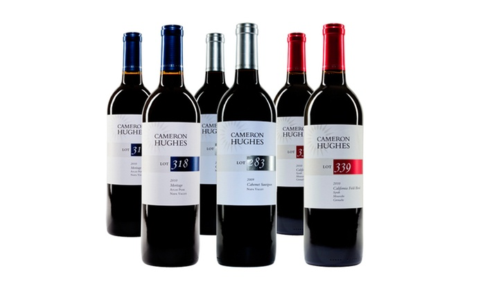 Cameron Hughes 6-Bottle Wine Samplers: Cameron Hughes 6-Bottle Wine Samplers with Red Wine, White Wine, or Both. Shipping Included.