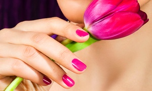RB Hair & Beauty: Manicure with Hand and Arm Massage, or Pedicure with Foot and Leg Massage, or Both at RB Hair & Beauty (Up to 62% Off)