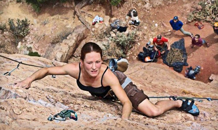 Apex Ex - Multiple Locations: Half-Day Rock-Climbing Package for One or Two from Apex Ex (Up to 77% Off)