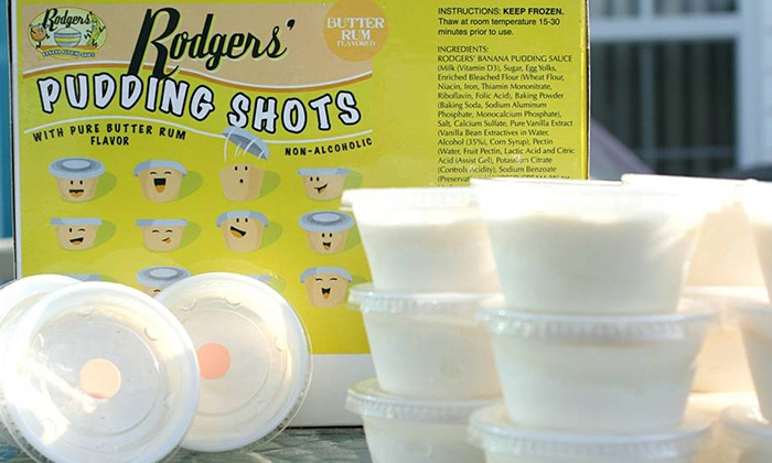 Rodgers' Banana Pudding Sauce - South Norfolk: $14.50 for a Box of 18 Nonalcoholic Pudding Shots at Rodgers' Banana Pudding Sauce ($28.95 Value)