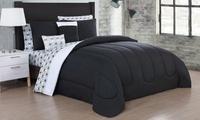 Reversible Queen Size Bed-in-a-Bag 9-Piece Comforter Set