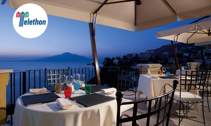 L'accanto - Vico Equense (NA): L'Accanto, una stella Michelin - Menu di pesce con vista sul Golfo di Napoli