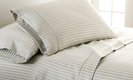 Dobby Stripe 4-Piece Sheet Sets