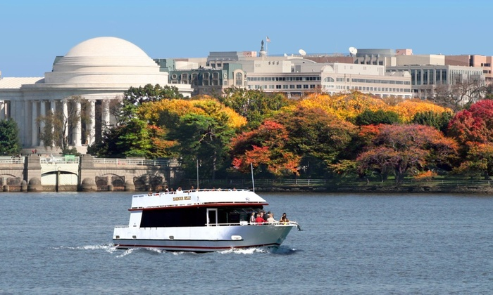DC Cruises - DC Cruises: Fall Foliage Boat Tour Past Monuments for One, Two, or Four from DC Cruises (Up to 42% Off)