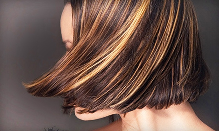 Scissors Edge Salon - Mt. Arlington: Haircut Package with Optional Partial Highlights, Color, or Full Highlights at Scissors Edge Salon (Up to 65% Off)