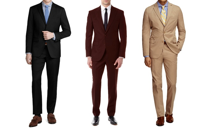 Braveman 2-Piece Men's Suits | Groupon Goods