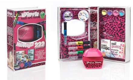 Ultimate Nail Art Book 222-Piece Set with Nail Dryer | Groupon