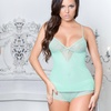 2-Pack of Affinitas Intimates Melody Sheer Lace Camisoles and Panties