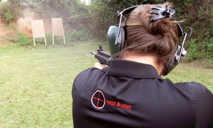 Shoot & Move - Shoot and Move, LLC: Private Shooting Lesson or a Group AR-15 Rifle-Shooting Class for One or Two at Shoot & Move (Up to 63% Off)
