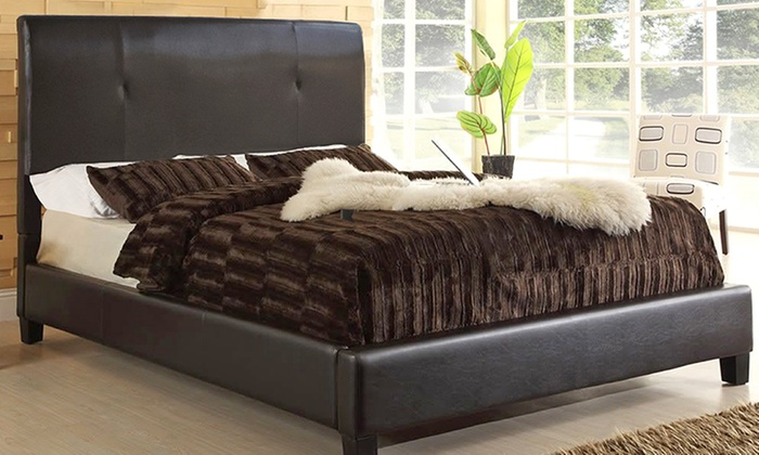 Haagen modern bed groupon goods for Beds groupon