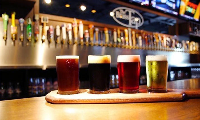The Brass Tap - Mesa Riverview: $24 for Two Groupons, Each good for $20 Worth of Pub Fare and Beer at The Brass Tap ($40 Total Value)